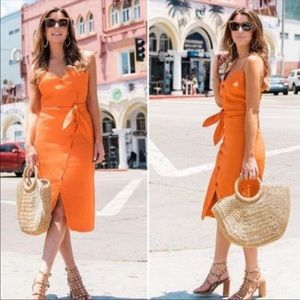 Joie NWT Carnell Linen Dress Sz L